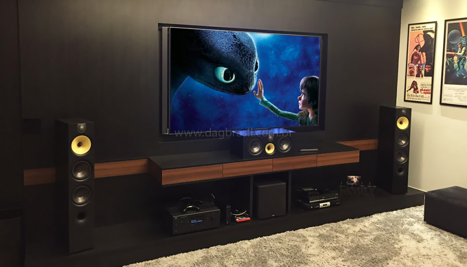 Well-known Projetos de home theater e salas de home cinema de alto padrão GK66