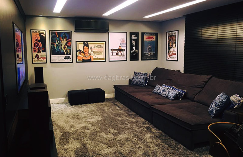 Projetos de home theater e salas de home cinema de alto padr o - Sala home theatre ...