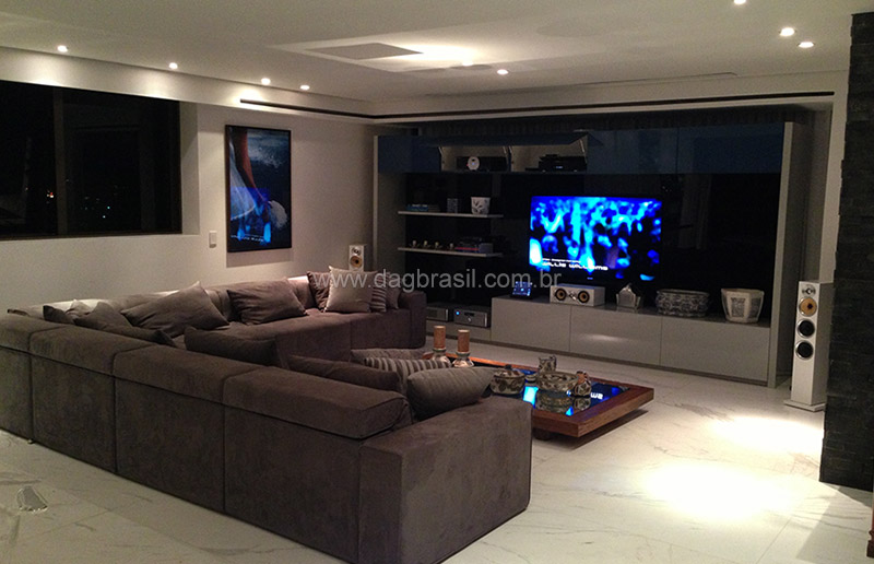 Suficiente Projetos de home theater e salas de home cinema de alto padrão NP91